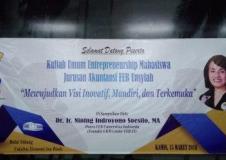 Kuliah Umum Entrepreneurship Akuntansi FEB Unsyiah 15 Maret 2018